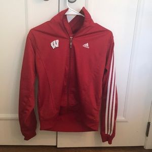 Wisconsin badgers adidas jacket